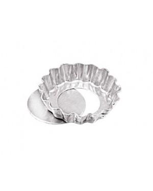 Forma para Torta Crespa Fundo Falso Alumínio Caparroz com 12 Unidades Tamanho 9