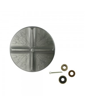 Agitador para Tanquinho Colormaq LCM  6.4  Eixo Curto + Buchas Celeron 1 mm/Cupilha