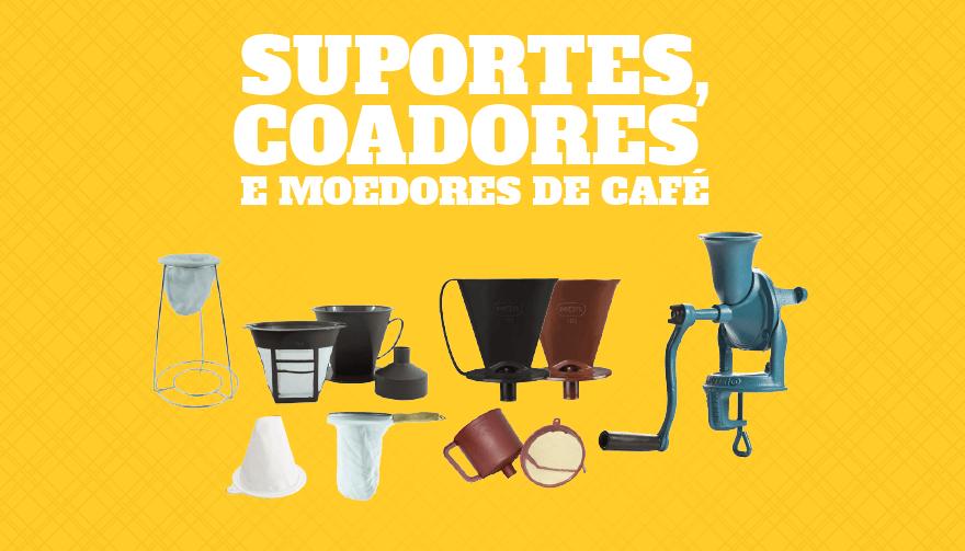 Suportes coadores e moedores de café